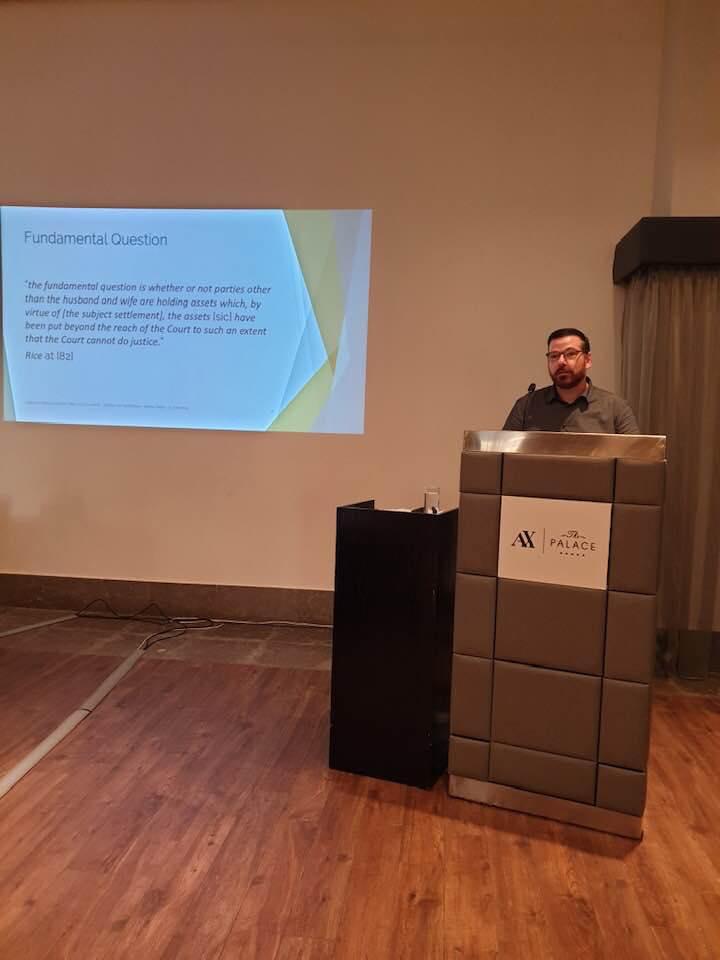 Johannes presenting in Sliema, Malta